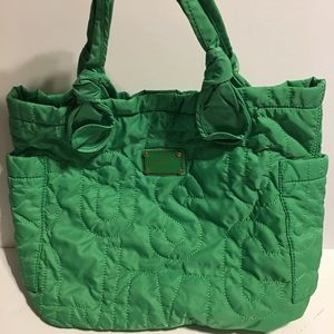 Marc By Marc Jacobs Green Nylon Tote