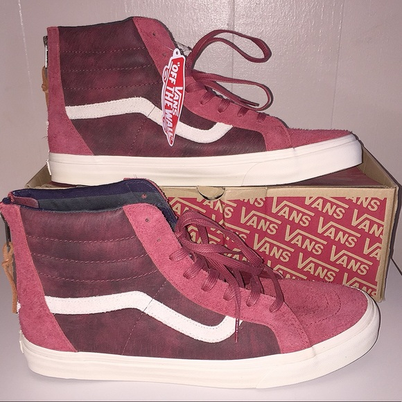 bc18ab4e665fd9 NWT Vans Men s Suede SK8-Hi Zip DX Varsity Red