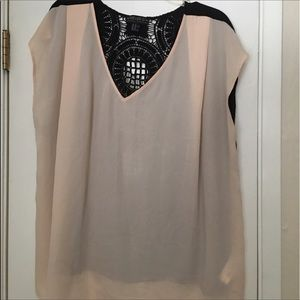 FOREVER 21 LACE BACK BLOUSE 3X