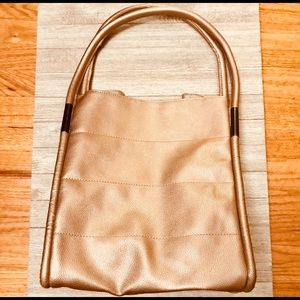 Neumann Marcus faux leather metallic bag tote NWT