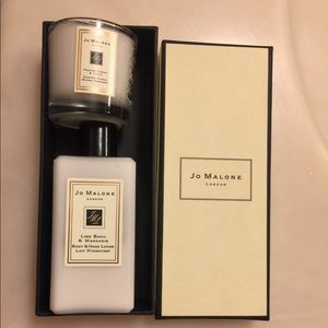 Jo Malone lotion and candle used