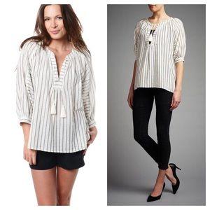 Joie / striped tassel tie Toluca blouse