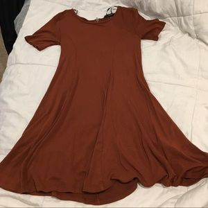 Burnt Orange Dress with Back Zipper