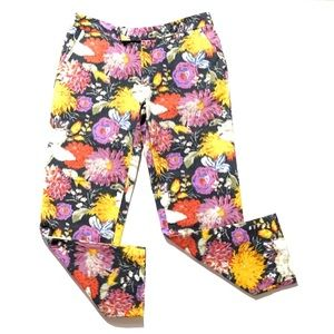 Anthropologie Floral Ankle Pants