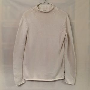 J. Crew large tall ivory roll neck cotton sweater