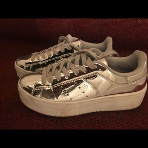 Very Smart Silver Shoes