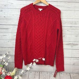 Merona Red Sweater Sz M NWT