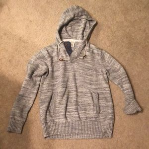Hooded Male or oversized female sweater