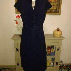 Size 14 navy blue Calvin Klein dress