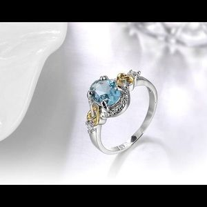 Jewelry - 3.5ctw Crystal Zirconia Stamped .925 SS Heart Ring