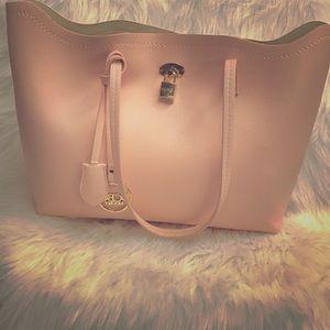 BCBG pink tote bag