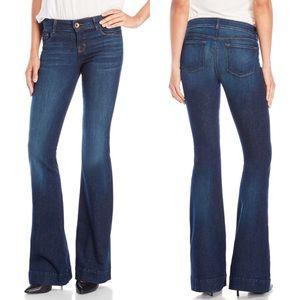Love Story Flare/Boot Cut Dark Wash Denim Jeans