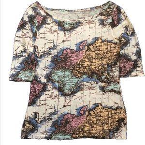 Boatneck Map Shirt