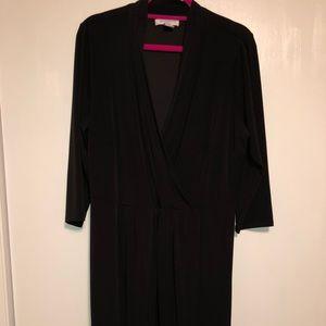 Liz Claiborne Woman Black Wrap Dress
