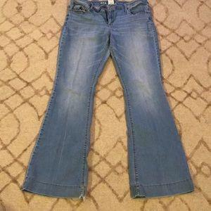 Light blue denim jeans