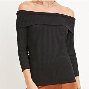 F21 Off Shoulder Knit Top