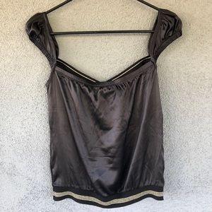 ✨Dolce & Gabbana Banded Silk Blend Tank Top Small