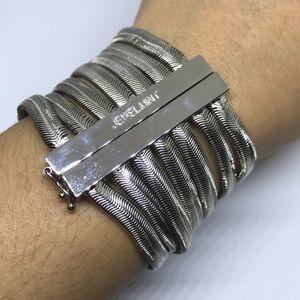 Jewelmint GORGON silver snake multi chain bracelet