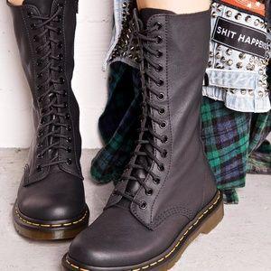 Black 14 hole Dr. Martens Combat Boots