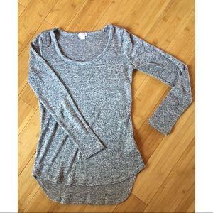 Xhilaration Heather High-Low Scoop Neck Sweater