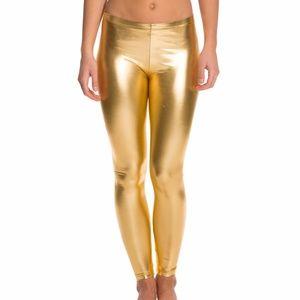 American Apparel Lame Gold Metallic Leggings