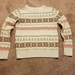 Gap Kids Fair Isle Sweater with elbow patches