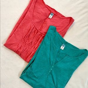 Lot of 2 Old Navy Maternity Tops