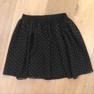 American Apparel Polka Dot Circle Skirt