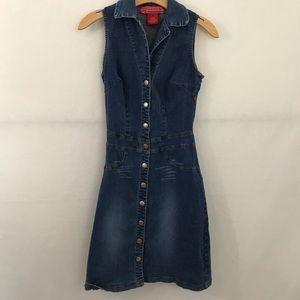 Hot Kiss Denim Button Up Maxi Dress Size XS