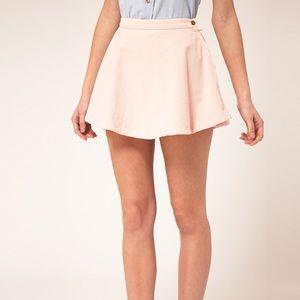 AA baby pink corduroy skirt
