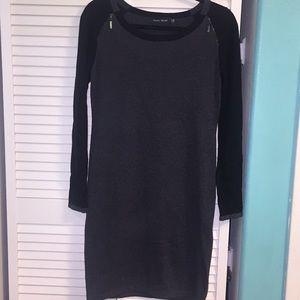 Ivanka Trump colorblock gray and black dress