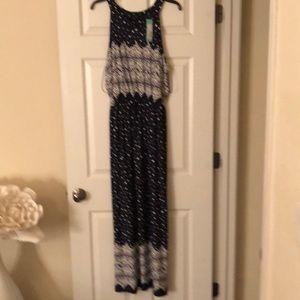 Haley 23 maxi dress navy cream size extra-large