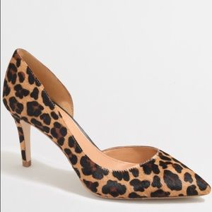 J crew calf hair Dorsay pumps