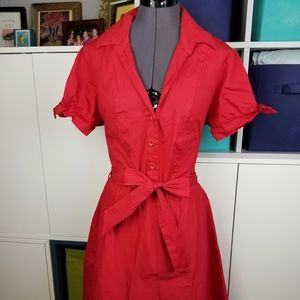 Red retro styled dress