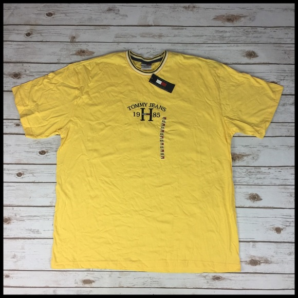 0a209fe48e9ce Tommy Hilfiger Jeans Men s XXL Yellow T-Shirt NWT
