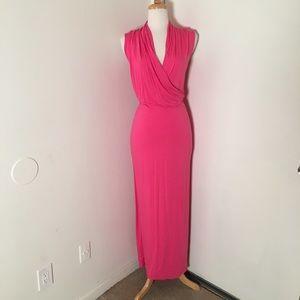 NWOT Bebe Pink Maxi Dress
