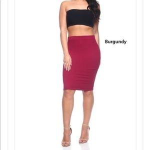 Dresses & Skirts - Wine pencil skirt (plus size )