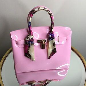 New Pink Jelly Handbag