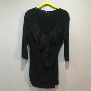 Maurice's black blouse