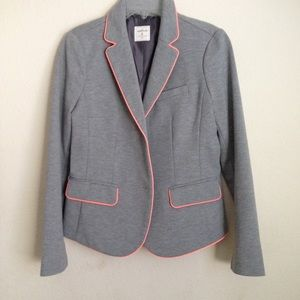 Gap Academy Blazer, gray and pink piping