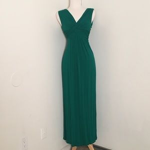 Max Studio Hunter Green Maxi Dress