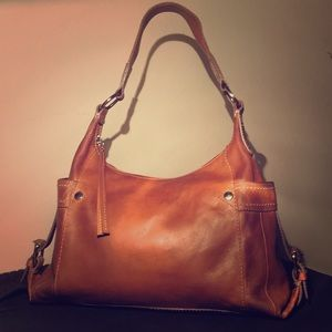 Vintage Whiskey Leather Fossil Satchel