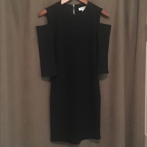 Forever 21 Ribbed Cold Shoulder Little Black Dress