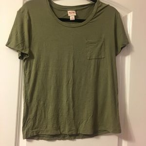 Mossimo Supply Co. Tops - Mossimo olive relaxed V-neck size XS
