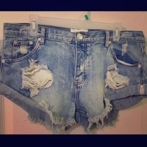 One Teaspoon Bandit Jean Shorts - size 32