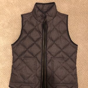 J Crew Quilted Puffer Vest Size Small