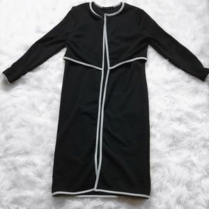 Black Duster With Grey Trim