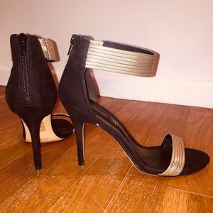 Aldo 'Ladle' Metallic Ankle-Strap Sandal