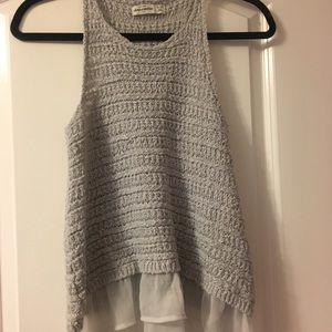 Abercrombie kids detailed/sweater tank top