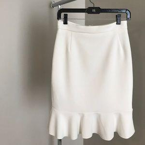 Ruffle Hem Pencil Skirt